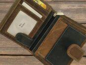 férfi bőr pénztárca és irattartó